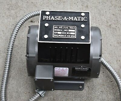 PHASE-A-MATIC ROTARY PHASE CONVERTER R-3 220 3HP barely used