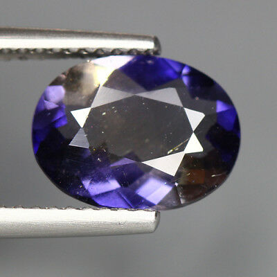 2.05 Cts_Unique Rare Tanzanite Hue_100 % Natural Purplish Blue Iolite_Sri Lanka