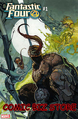 Fantastic Four #1 (2018) 1St Printing Bianchi Venomized Party Variant Cover