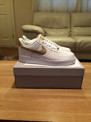NIKE AIR FORCE 1 CR7 White & Gold 'RONALDO' LIMITED EDITION 8 9 10