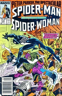 Spectacular Spider-Man (1st Series) Mark Jewelers #126MJ 1987 VG 4.0 Stock Image