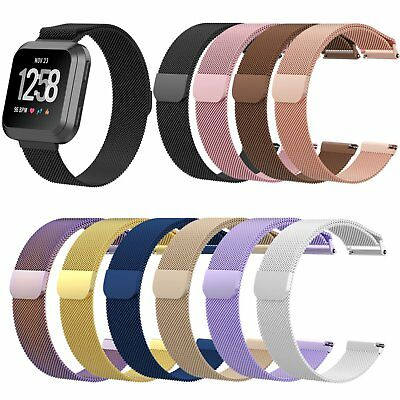 S/L Wristband Mesh Milanese Magnetic Loop Strap for Fitbit Versa Smart Watch New