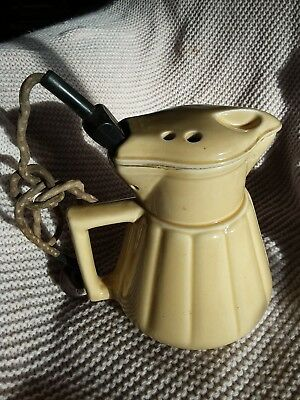 Ceramic kettle Electric Jug Vintage Element and lead Ceramic Lid