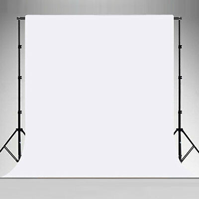 Photo Studio 3x6m White Muslin Backdrop + 2.8x3m Background Support Stand System