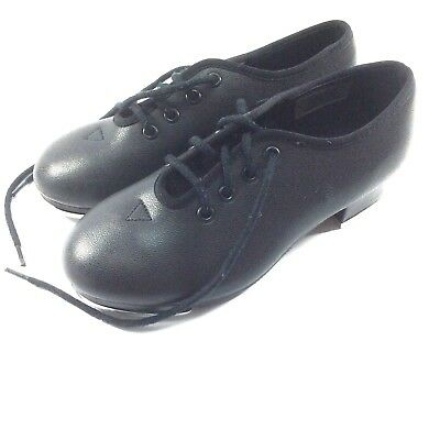 Dance Now Bloch Black Tap Shoes Lace Up Techno Taps #231112 Mary Jane Youth 10M