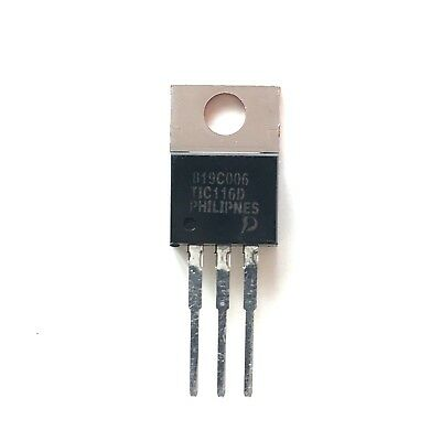 4x TIC116D Thyristor TO-220 400 V 8 A,