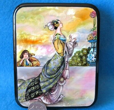 LACQUER SHELL Box FAIRY TALE Oscar Wilde Nightingale and Rose Charles Robinson