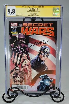 Secret Wars #7 Cgc 9.8 - Signed By Humberto Ramos (Midtown Comics Exclusives)