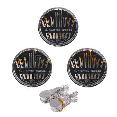 3 Pack 30pcs Assorted Hand Sewing Needles Threaders Set for DIY Sewing Craft