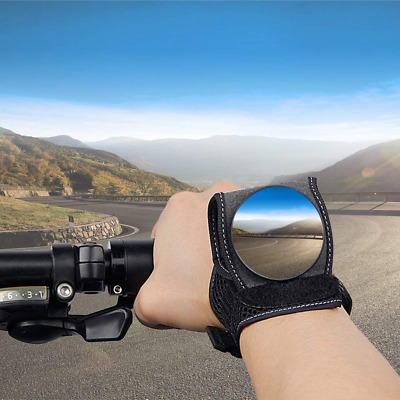 Bike Safety Mirrors Rear View , Adjustable Bicycle Wrist Cycling Gift Gadgets US