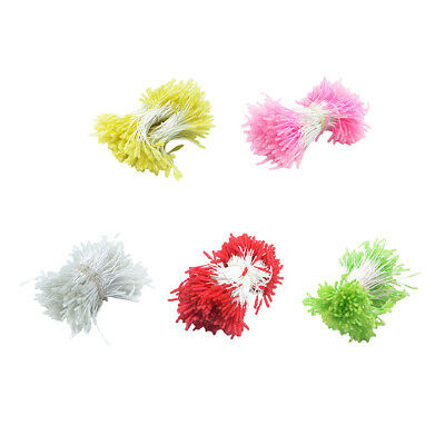 300x Artificial Flower Stamens Double Heads Fake Small Berries Home Decor