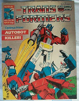 Transformers UK Comic Issue 39 December 1985