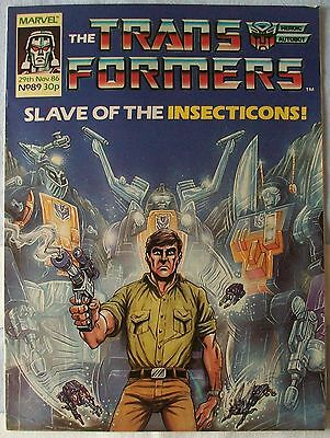 Transformers UK Comic Issue 89 November 1986