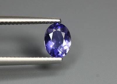 0.85 Cts_Glittering !! Top Luster_100 % Natural Purplish Blue Iolite_Sri Lanka