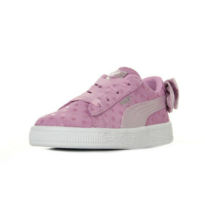 Cuir Dots Puma Taille Suede Bow Rose Chaussures Baskets Inf Bébé DH2WI9E