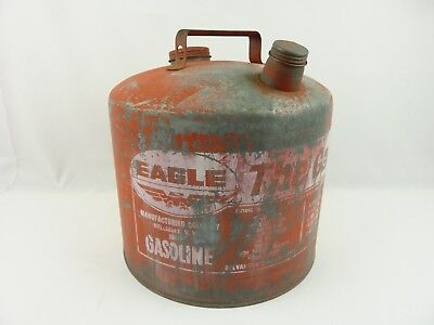 Eagle The Gasser Vintage 5 Gallon Gas Can Galvonized Steel Made In USA
