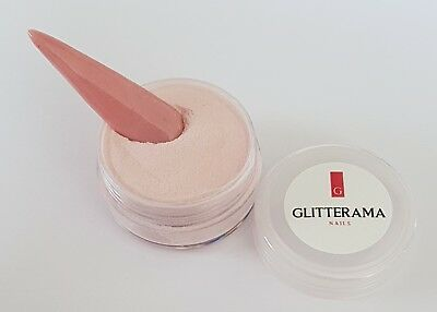Nude pink coloured acrylic powder Glitterama 4g pot nail art nude blush