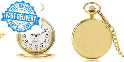 3adc0e7213b5 BestFire Pocket Watch Vintage Smooth Quartz Classic Fob with Short Chain  for.