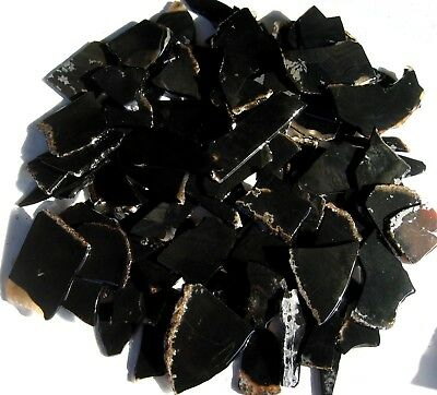 rle BLACK ONYX SLABS, for inlay 1.10 lbs. SMALL PCS. NOT POLISHED