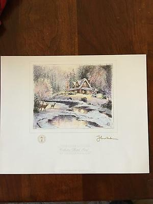 THOMAS KINKADE COLLECTOR Sketch Color Print \