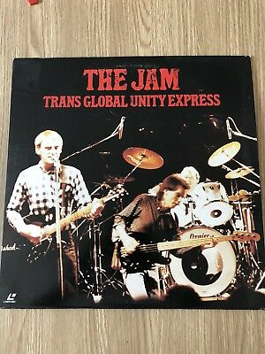 The Jam Trans Global Unity Express Laserdisc Laser Disc Rare