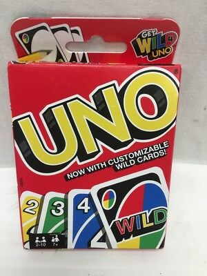 Mattel UNO Playing Card Game With Customizable Wild Cards Family Game Night