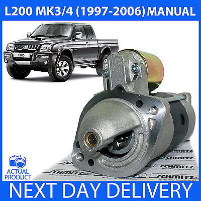 **Manual Only** Mitsubishi L200 1996-2006 K74 2.5 Td Diesel New Starter Motor