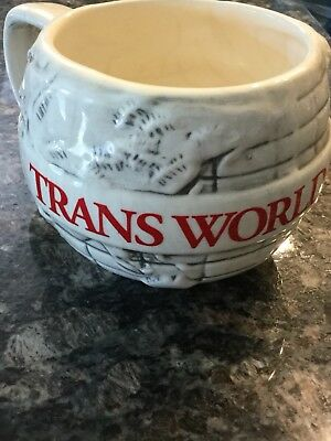 TWA Trans World Airlines Coffee Mug Cup Made In USA Aviation Jet Travel Collect