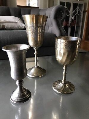 MIXED LOT!  Sterling Silver Goblet Kiddush Seder Cup Passover Jewish Star PLUS!!