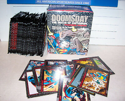 1992 Skybox Doomsday Death Of Superman Sealed Box With 27 Extra Sealed Packs