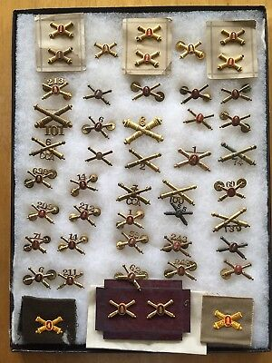 WW II, US Army Insignia, Artillery, Officers, Laarge Group