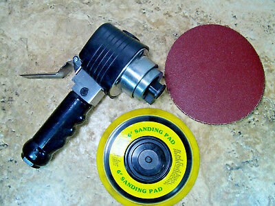 """Pre-owned & Tested Task Force 6"""" Air Sander W/ 6"""" Pad & Sand Paper Disc"""