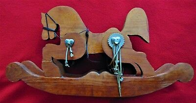 "BEAUTIFUL WESTERN HAND MADE ROCKING HORSE ~ DECORATIVE ~ 11"" x 20"""