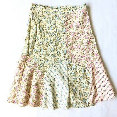 Mary Kate and Ashley 8x Floral Girls Skirt Modest Length Pink, Blue, Yellow