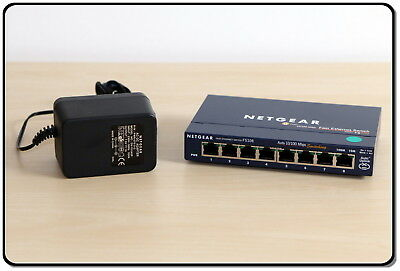 NETGEAR Switch 8 ports RJ45 Fast Ethernet FS108 10/100 Mbps