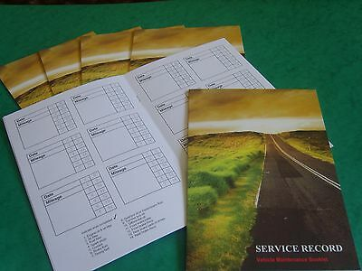 10 x Blank Service History Book & Maintenance Record, Replacement for Any Car