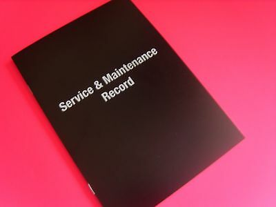Vehicle Service Book Service History Record Log Book Replacement Car Van Mpv