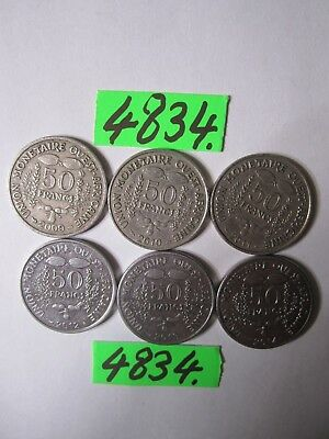 6 x  coins from  West African States     24   gms      Mar4834