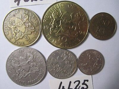 6 x  coins from  Kenya     36   gms      Mar4625