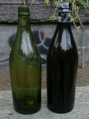 2 Vintage 1860's-80's Goldfield  Beer Bottles