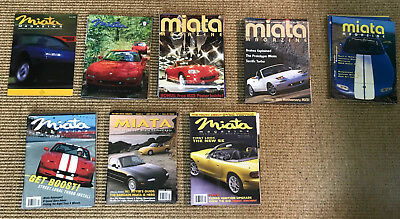 Miata Magazine - Premiere Issue ('89) and Years 1997 to 2003 - 31 issues
