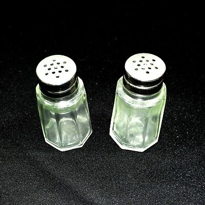 Vintage salt and pepper shakers by Gemco stainless steel U.S.A 27 & 22