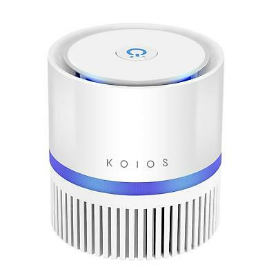 KOIOS Air Purifier, Desktop Air Filtration with True HEPA Filter, Compact Home