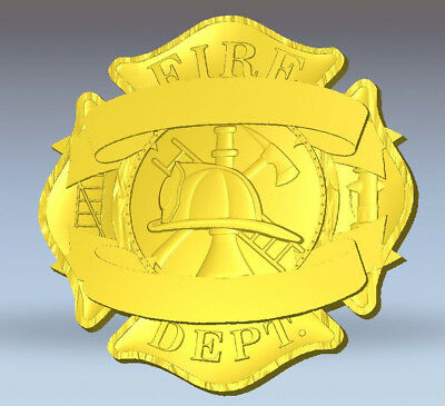3D STL Relief File, for CNC fire dept.