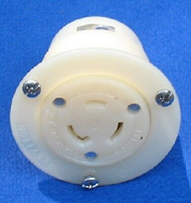 Leviton 2376 Locking Flanged Outlet Receptacle L11-20R 20A 250V 3 Phase