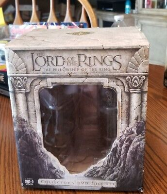 The Lord Of The Rings The Fellowship Of The Ring Collectors Dvd Gift Set Mib New