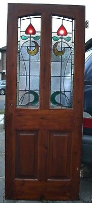 English stained glass internal door R715. SHIPPING INSURANCE INCLUDED