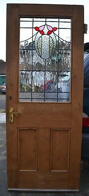 English stained glass internal/external door R707. SHIPPING INSURANCE INCLUDED