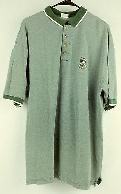 cf8c74ad1 Vintage Men's Mickey Mouse Embroidered Disney World Golf Polo Shirt sz XL