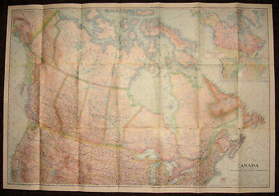 Canada National Geographic Society 1936 Map
